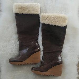 Michael Kors brown knee boot